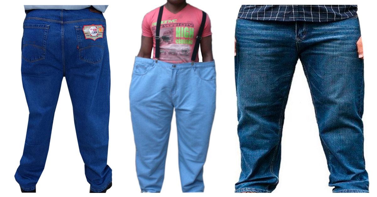 pantalones jeans tallas plus para caballero